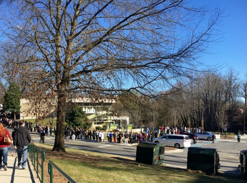 Line for Hillary Clinton's Rally an Hour Before She Speaks