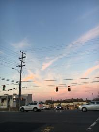 Sunset - blue -sky